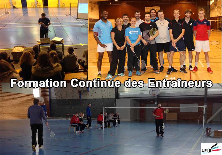 Participation d'Olivier, Florian et Cyril à des formations d'entraîneur
