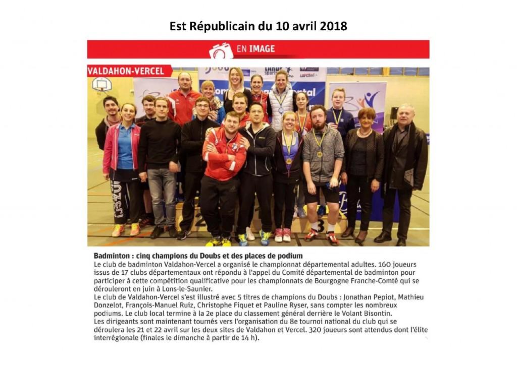 Est championnat Doubs 2018